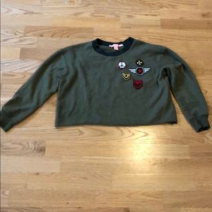 Cropped Sweater w/ Patches